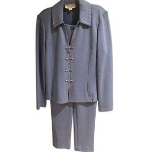 St John periwinkle sweater pants